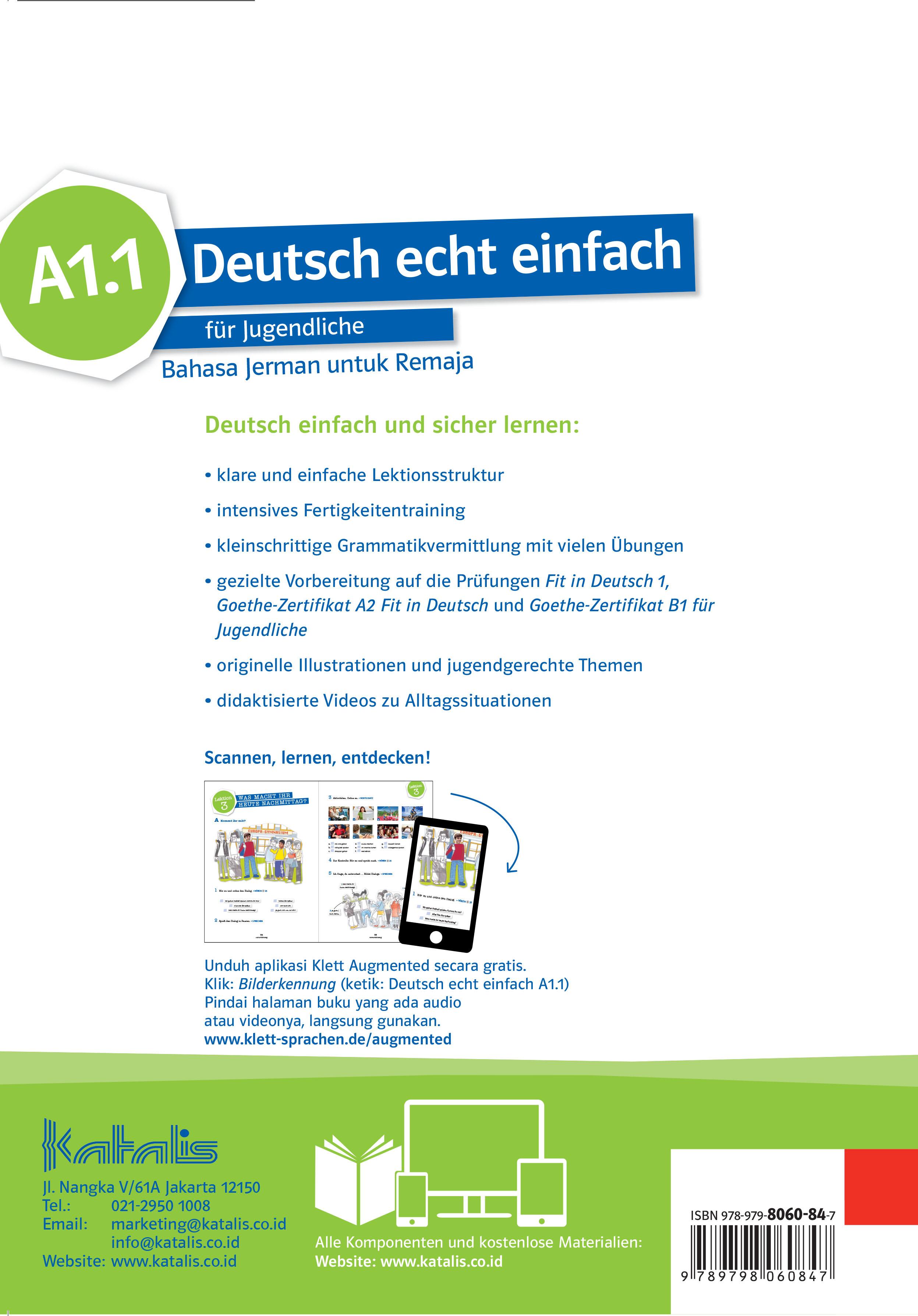 Deutsch echt einfach für Jugendliche Bahasa Jerman untuk Remaja  A1.1