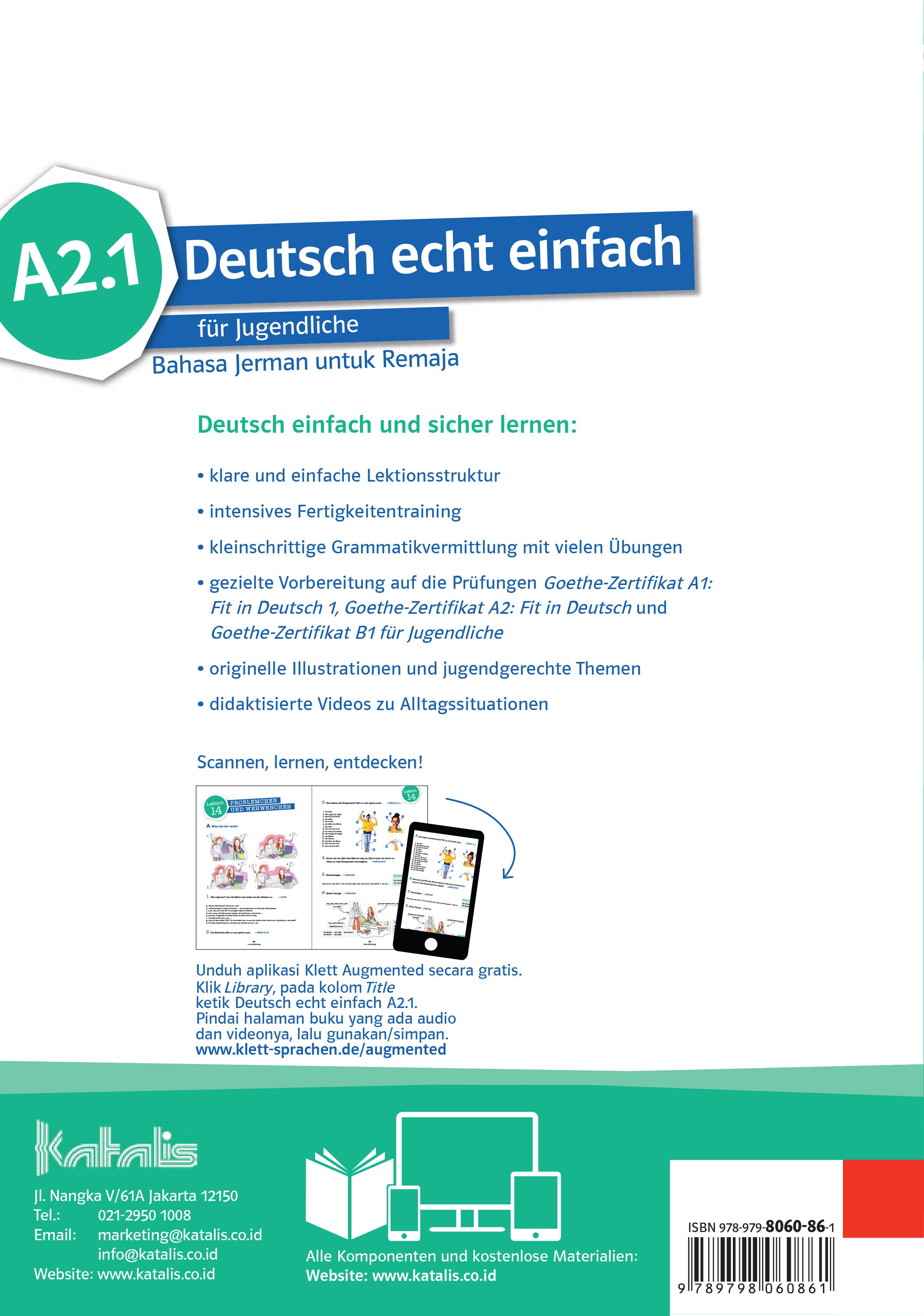 Deutsch echt einfach für Jugendliche Bahasa Jerman untuk Remaja A2.1